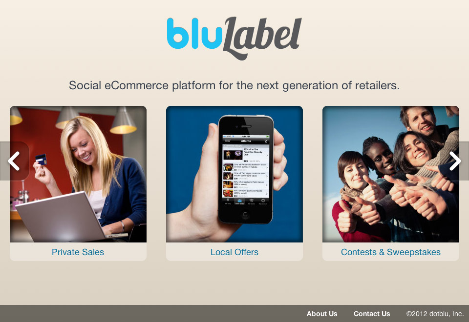 BluLabel Corporate Site by Kyle McGuire