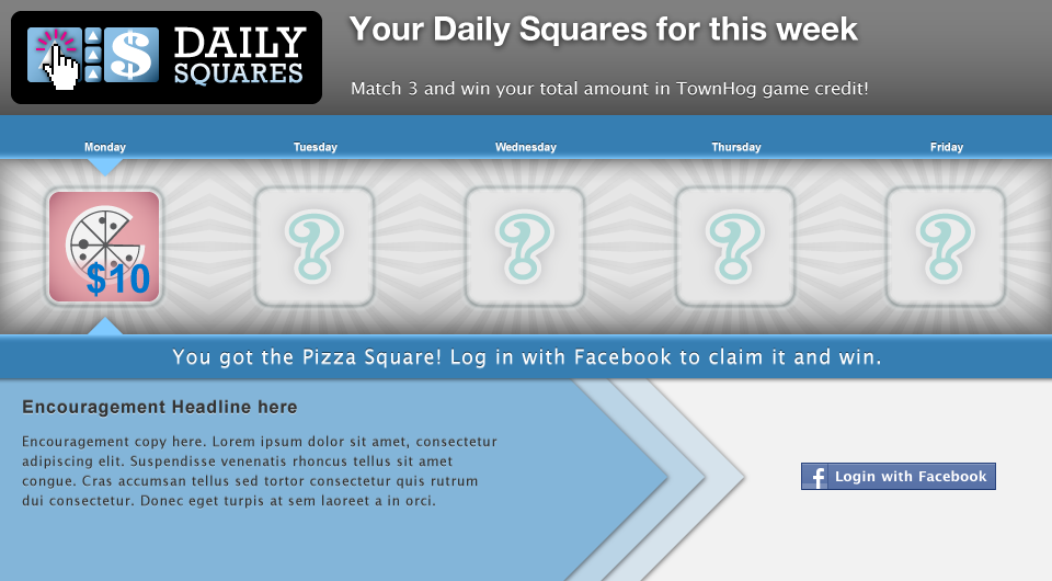 Daily Square Landing Page by Kyle McGuire