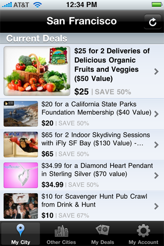 BluLabel iPhone App Deal Listing Page by Kyle McGuire