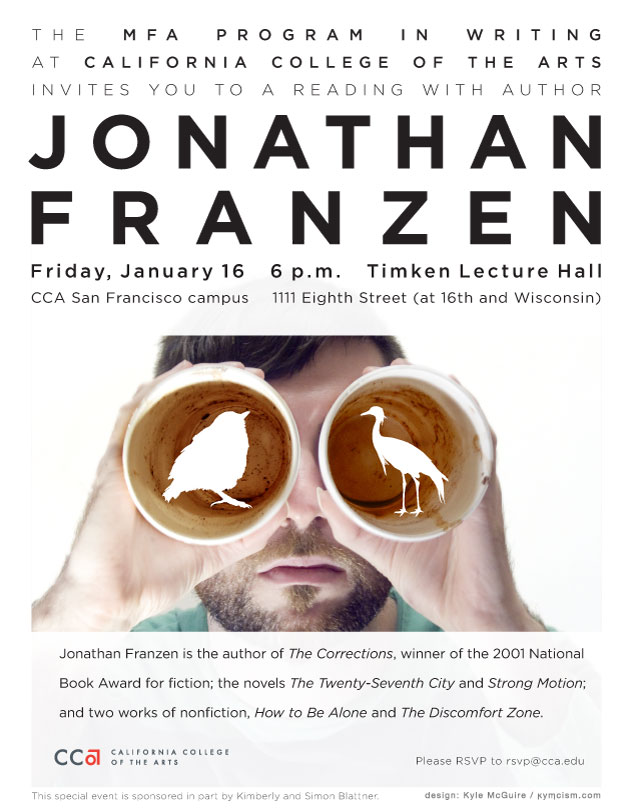 Jonathan Franzen poster by Kyle McGuire