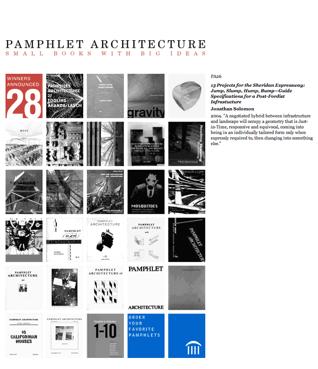 Princeton Architectural Press Pamphlet Architecture Website by Kyle McGuire